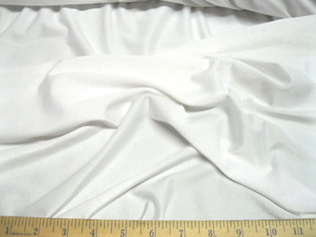Discount Fabric Polyester Lycra /Spandex 4 way stretch White Matt Finish 710LY