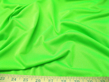 Discount Fabric Athletic Sports Mesh Neon Green 925LY