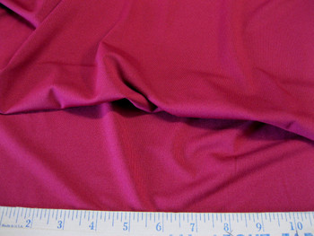 Discount Fabric Polyester Lycra /Spandex 4 way stretch Cranberry Matt Finish 903LY