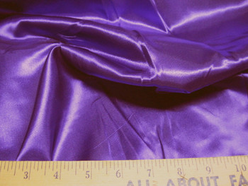 Discount Fabric Satin Purple 65 inches wide 21SA