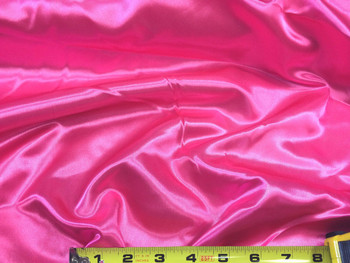 Discount Fabric Satin Shocking Pink 65 inches wide 98SA