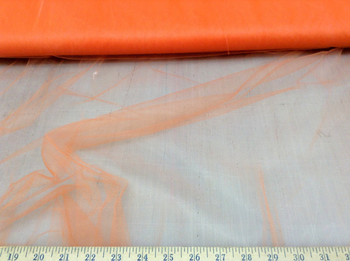 Discount Fabric 54 inch Tulle Orange sheer 30TU Free Ship
