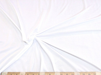 Discount Fabric Light Weight Polyester Lycra /Spandex 4 way stretch White 785LY