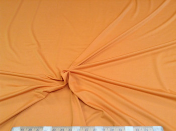 Discount Fabric Polyester Lycra /Spandex 4 way stretch Solid Light Orange 962LY