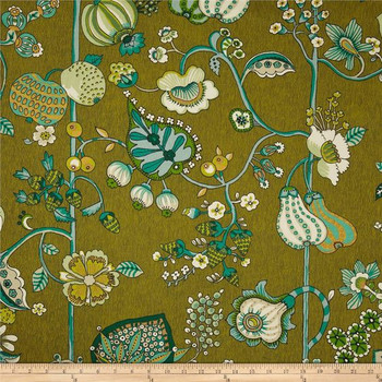 Discount Fabric Richloom Upholstery Drapery Delphine Sateen Jungle Green 106RL