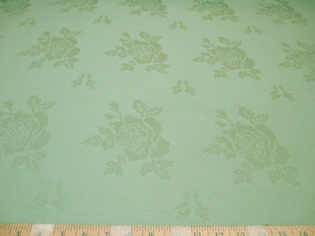 Discount Fabric Upholstery Drapery Twill Jacquard All Over Rose Kiwi Green 40DR