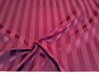 Discount Tablecloth Fabric Brocade Satin Stripe Burgundy 29DR