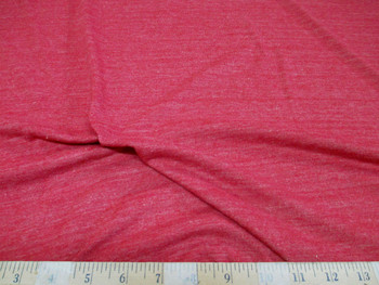 Discount Fabric 4 way Stretch Cotton Blend Heather Red 100SC
