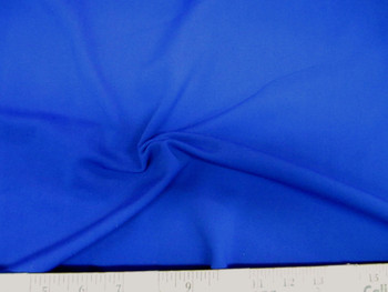 Discount Fabric Polyester Lycra /Spandex 4 way Super Stretch Royal Blue 987LY