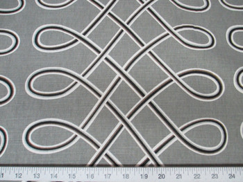 Discount Fabric Robert Allen Upholstery Drapery Multi Loop Storm Grey 04RA