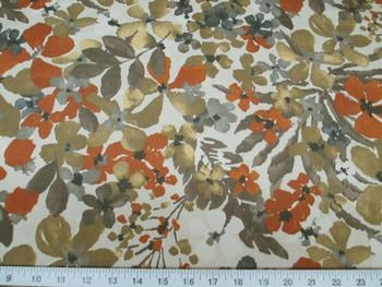 Discount Fabric Robert Allen Baja Sonata Greystone Floral Indoor Outdoor 06RA