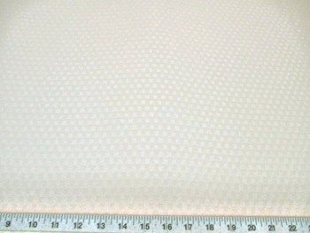 Discount Tablecloth Fabric Jacquard Check Eggshell White 42DR