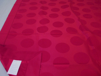 "Robert Allen Holiday 79"" x 54"" Tablecloth Table Cloth Cranberry Circles"