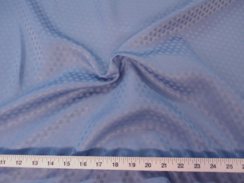 Discount Tablecloth Fabric Jacquard Check Cornflower Blue 45DR