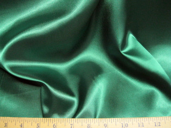 Discount Fabric Satin Emerald Green 65 inches wide 77SA