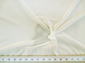 Discount Fabric Ivory PowerNet Mesh Spandex 4 way Stretch sheer 201PO