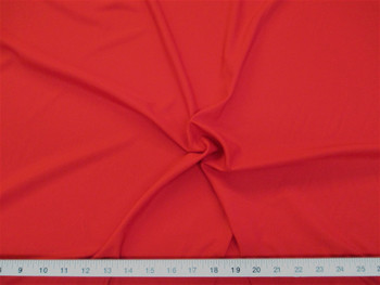 Discount Fabric Challis Apparel Top Weight Solid Red Soft and Flowing 18CH