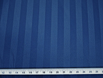 Discount Fabric Upholstery Drapery Brocade Satin Stripe Navy 34DR