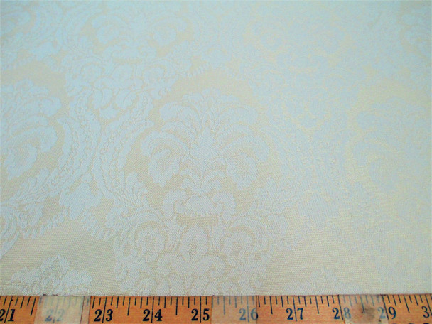 Discount Fabric 72 inches wide Drapery Jacquard Damask Floral Ivory 49DR
