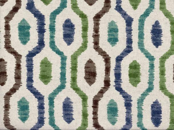 Fabric Richloom Upholstery Drapery Linen Saltio Capri Geometric Ikat 43LL