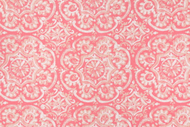 Discount Fabric Richloom Solarium Indoor Outdoor Westphalia Coral Floral 34NN