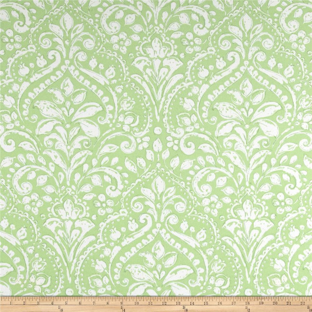 Discount Fabric Richloom Solarium Indoor Outdoor Topaz Mint Floral 11OO
