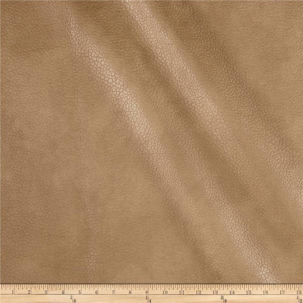Discount Fabric Richloom Tough Faux Leather Pleather Vinyl Lattimer Tobacco 21SS