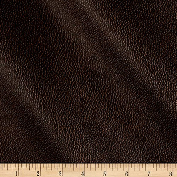 Discount Fabric Richloom Tough Faux Leather Pleather Vinyl Bryant Chestnut 41RR