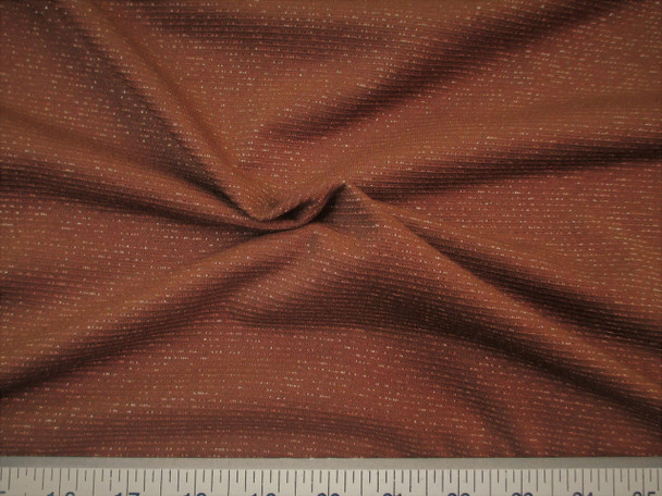 Discount Fabric Glamour Spandex 4 way stretch Brown Metallic Copper 716LY