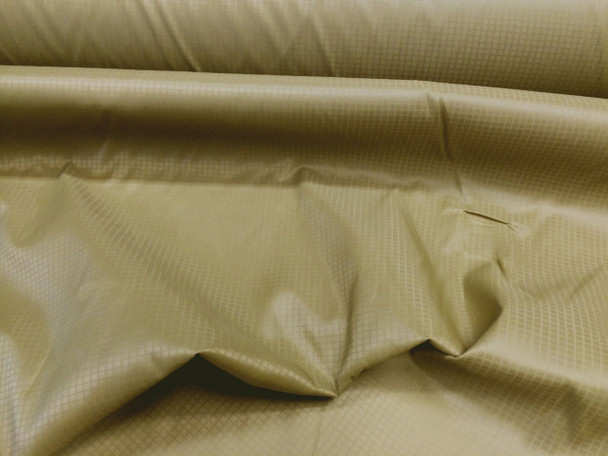 Discount Fabric Ripstop Rip Stop  Nylon Water Resistant Dark Old Gold 06RS