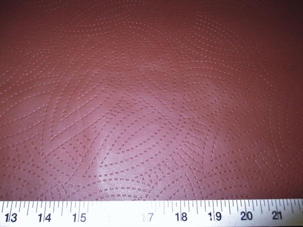 Discount Fabric Richloom Tough Faux Leather Pleather Vinyl Kensington Chilli 4SS