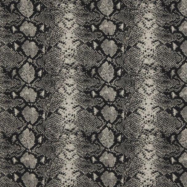 Fabric Robert Allen Beacon Hill Mia Black and White Snake Skin Silk Wool 20JJ
