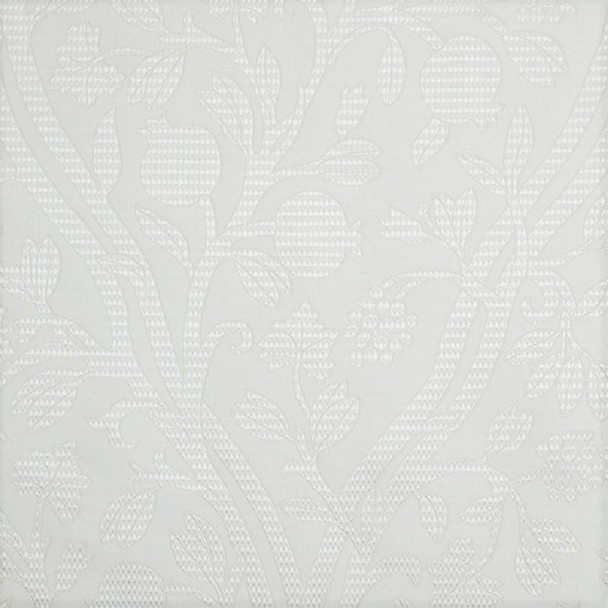 Fabric Robert Allen Beacon Hill Amerikey Snow Silk Matelasse Floral Drapery 41II