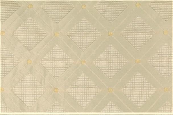 Fabric Robert Allen Beacon Hill Dream Fields Bone Silk Diamond Drapery 23JJ