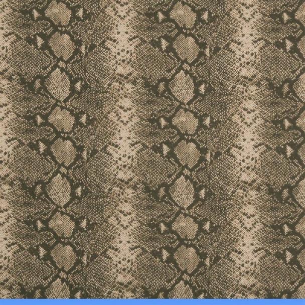 Fabric Robert Allen Beacon Hill Mia Umber Brown Snake Skin Silk Wool 20*J