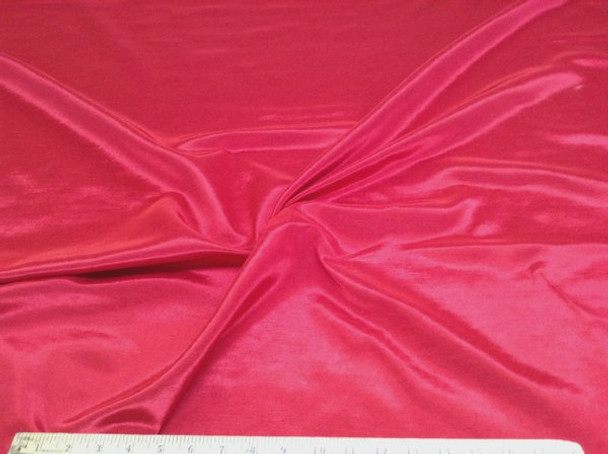 Discount Fabric BENGALINE Faille Solid  Red 102Ben