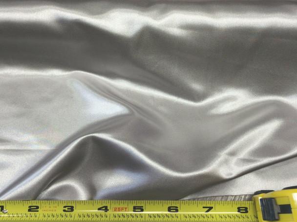Discount Fabric Satin Silver 65 inches wide 05SA