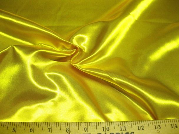 Discount Fabric Satin Sunshine Yellow 65 inches wide 22SA