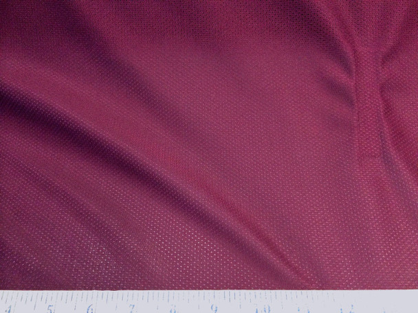 Discount Fabric Athletic Sports Mesh Burgundy 945LY