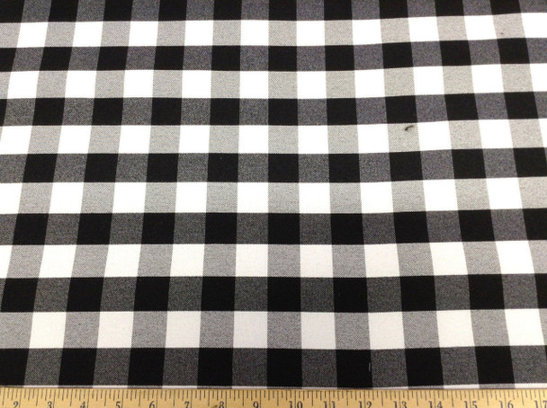 Discount 58 inch wide Tablecloth Fabric Black and White Check 22DR