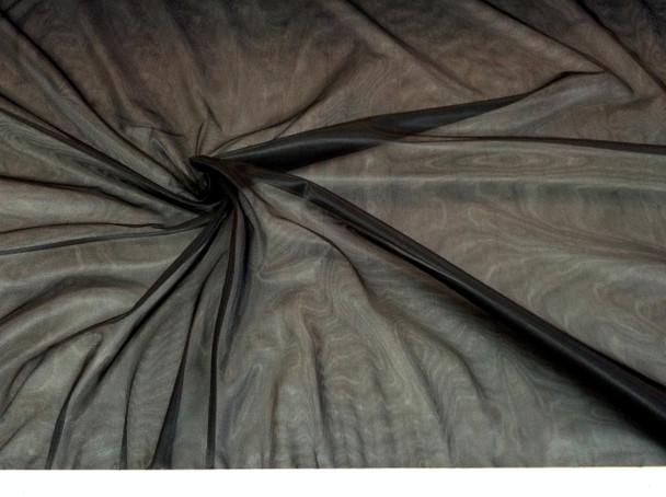 "Discount Fabric 108"" Black PowerNet Mesh Spandex sheer 301PO"