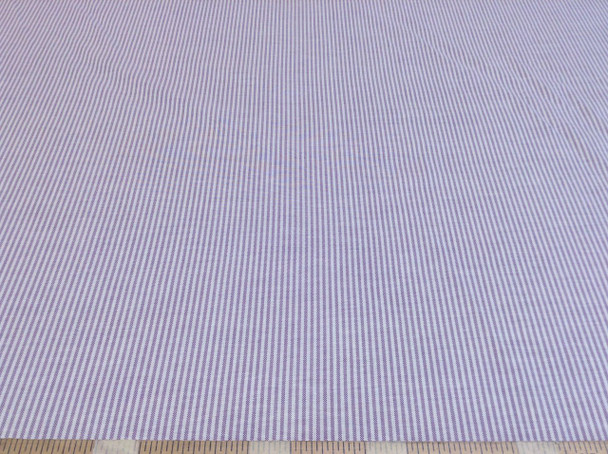 Discount Fabric Cotton Chambray Apparel Purple and White Stripe 101CH
