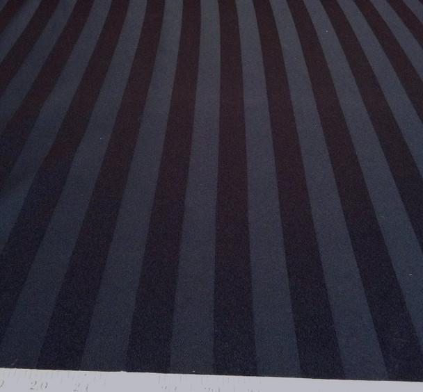 Discount Fabric Upholstery Drapery Brocade Satin Stripe Black 20DR