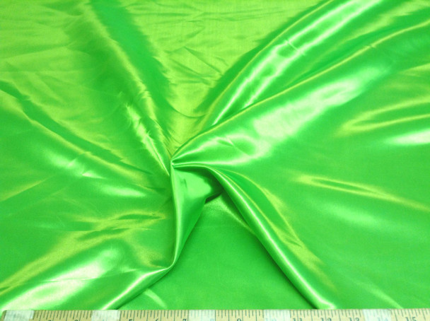Discount Fabric Satin Apple Green 65 inches wide 96SA
