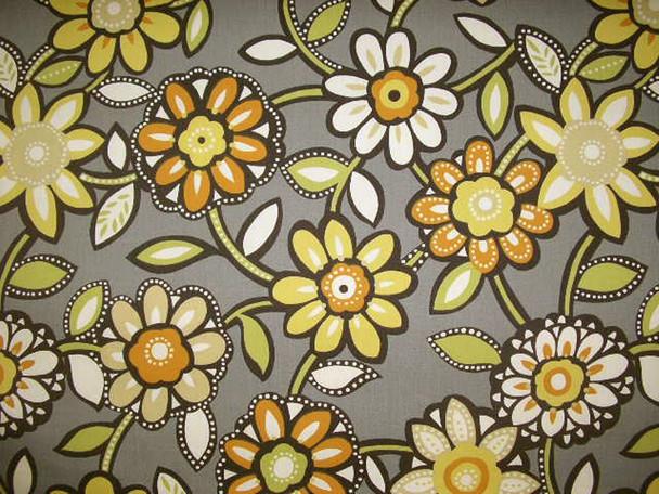 Discount Fabric Richloom Indoor Outdoor Wilder Graphite Floral 103RL