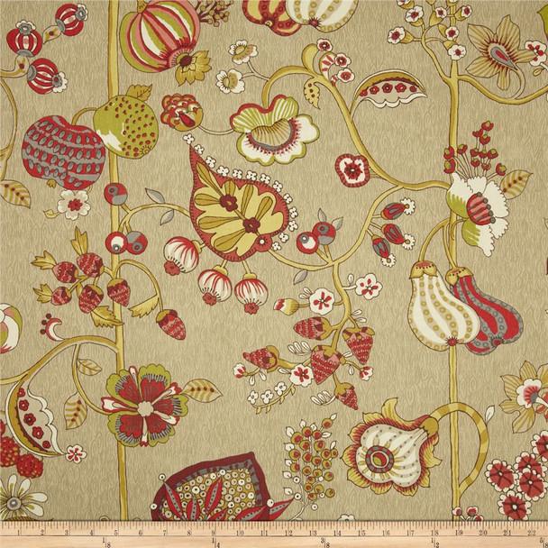 Discount Fabric Richloom Upholstery Drapery Delphine Sateen Cadinal 104RL