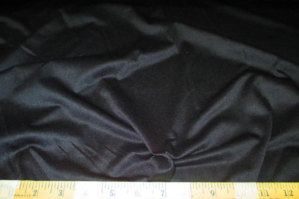 Discount Fabric 56 inch Tricot 4 Way Stretch Black 101TB