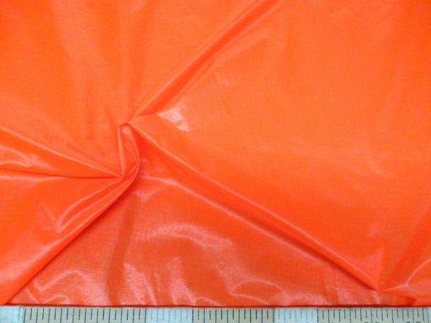 Discount Fabric Ripstop Rip Stop Nylon Water Resistant Neon Orange 42RS