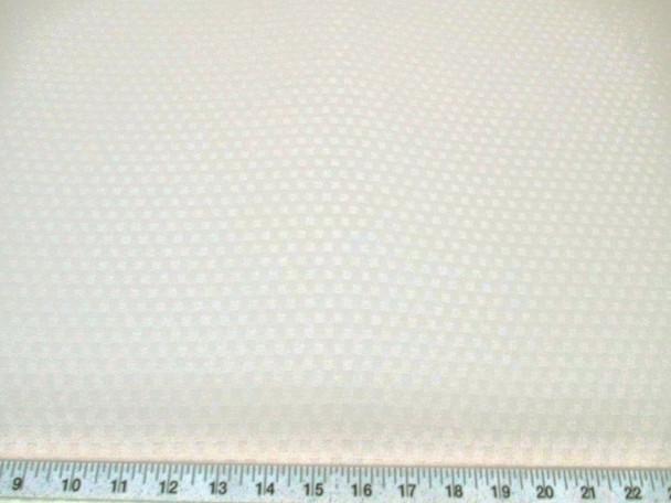 Discount Fabric Drapery Jacquard Check Eggshell White 42DR