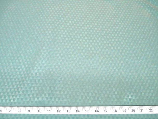 Discount Fabric Drapery Jacquard Check Mint Green 43DR